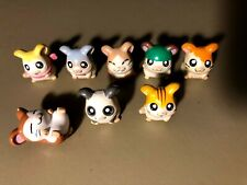 Hamtaro The Hamster Figurines Lot Of 8 Cartoon Anime - Figures Collectibles