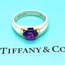 Tiffany & Co. Sterling Silver 18k Gold Amethyst Ring. Sz.7.5 Lot
