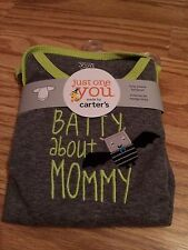 """NEW Carters """"BATTY ABOUT MOMMY"""" BODYSUIT 6M BABY INFANT Halloween CLOTHES Outfi"""