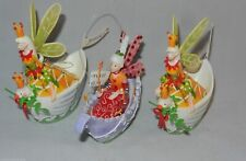 "Ornament Fairies Unique & Fun Colorful 5"" Resin Figurines Lot of 3"