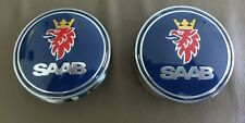 Saab Badge Front and Rear 9-3 sedan badge logo 68mm Navy Blue + Keyring   03-10