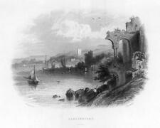 1840 IRELAND - Original Antique Print View of CARLINGFORD in County Louth  (121)