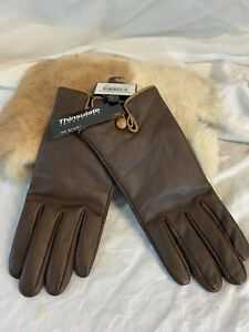 Vintage THINSULATE Insulation Ladies Brown Leather Gloves-New w/Tags