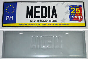 EUROPEAN CHAMBER OF COMMERCE OF THE PHILIPPINES Commemorative MEDIA CAR PLATE
