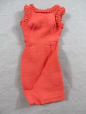 Vintage Original Barbie #1640 Matinee Fashion Red Sheath Dress