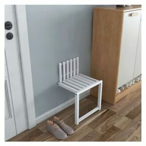folding stool wall mounted hidden shoe changing solid wood fold bathroom stool