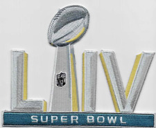 """SUPER BOWL 54 LIV Patch 5"""" Embroidered Iron On Free Shipping"""