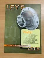 1954 LEY'S MALLEABLE CASTINGS CO LTD (DERBY) COLOUR VINTAGE ADVERT