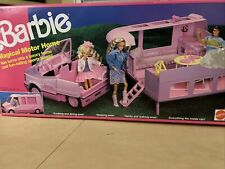 Vintage Barbie Magical Motor Home Pink 1990 IOB Truck Kitchen Table