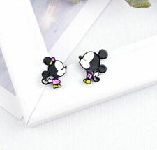 Cartoon Mickey & Minnie Mouse Stud Earrings - Disney - Ladies Girls - UK Seller