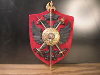 Miniature Swords Sword Arms Wall Plaque with Double-Headed Imperial Eagle