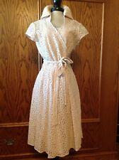 Fabulous Cotton Lace Wrap Dress Sz 4 by Eliza J