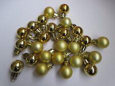 25 Mini Gold Christmas Tree Baubles. Mini Gold Christmas Tree Decorations L@@K