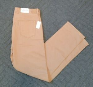 New Mens Peter Millar Sateen Stretch 5 Pocket Pants 36 Khaki MSRP $145 MF16B93