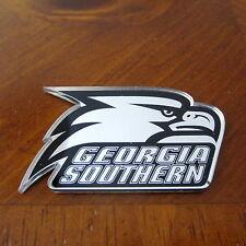 new! GEORGIA SOUTHERN UNIVERSITY EAGLES Acrylic Metallic Mirrored AUTO EMBLEM