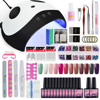 Full kit 12 Colors Gel Nail Polish Set-Kit 36W UV/LED Lamp Nail Polish Tools Art