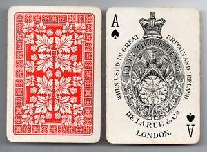 #U.002 Antique Swap /  Playing Card DECK- USED - RARE, De La Rue Pneumatic deck