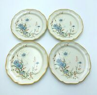 "Set of 4 Mikasa Garden Club BLUE DAISIES 10 3/4"" Dinner Plates  EB 804 Japan"