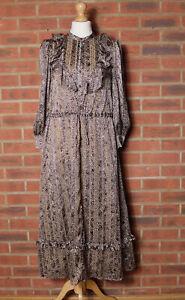 & Other Stories African Pattern Polka Dot Ruffle Tiered Dress EU 34 UK 8