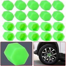 20Pcs Green Car Wheel Nut Lug Dust Cover Cap Protector Tyre Bolt Hub Screw Cap