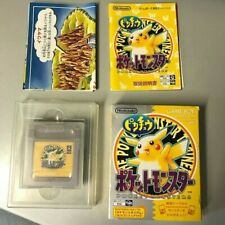 NINTENDO GAMEBOY GAME BOY COLOR POKEMON GIALLO NTSC JAP JPN COMPLETO ☆