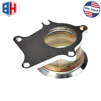 """Stainless Steel Adapter Fit For T3/T4 Turbo 5 Bolt to 3"""" V-Band Flange Adaptor"""