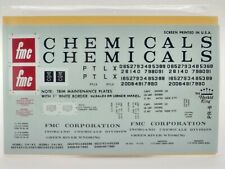 FMC Chemicals Grey Covered Hopper (2-72) HO Decals - Herald King #PR-6