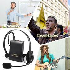 Drahtlos Headset Mikrofon FM Empfänger Sender UHF Funk Kopfhörer Clip Mikrofon