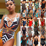 New Women One Piece Bathing Monokini Push Up Padded Bikini Swimsuit Swimwear AP
