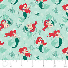 Disney Princess Ariel The Little Mermaid Camelot 100% cotton fabric by the yard