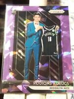 RODIONS KURUCS NETS 2018-19 PRIZM PINK CRACKED ICE PRIZM ROOKIE CARD SP 085/149