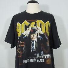 AC/DC Live At River Plate T-Shirt Black Men's size XL