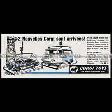 CORGI TOYS 1964 SIMCA 1000 Competition 315 COMMER 466 Pub / Publicité / Ad #E54