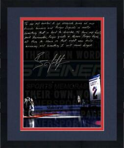 Framed Brian Leetch Signed 16x20 Retirement Night 16x20 Story Photo