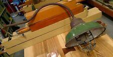 Reclaimed Vintage Antique Gooseneck Green Enamel Metal Barn Gas light. As found