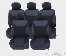 BLACK 5X FABRIC FULL SET SEAT COVERS FOR 5 SEATER CAR FORD C-MAX S-MAX