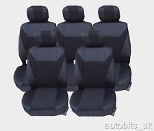 Noir 5 X tissu set complet Housses de siège pour 5 sièges PEUGETO 307 SW 806 807