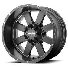 22 Inch Grey Wheels Rims Moto Metal MO962 22x14 8x6.5 Lug Set 4 MO96222480476N