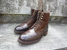 Joseph Cheaney Brogue Botas – MARRÓN – UK 9 – Irvine-Excelente Estado