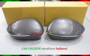 Pair Caps Mirror Fiat 500 Cinquecento Abarth Carbon Look Italy