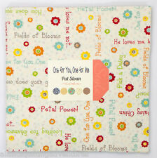 """Moda FABRIC Layer Cake ~ ONE FOR YOU ONE FOR ME ~ by Pat Sloan 42 - 10"""" squares"""