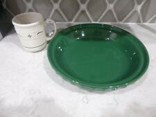 Longaberger Pottery Woven Tradition Deep Green Forest 9 In Pie Plate Coffee Mug