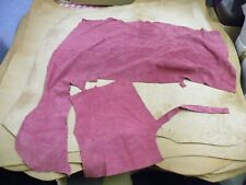 SUEDE RASPBERRY DOUBLE SIDED  TWO  PIECES OFF CUT