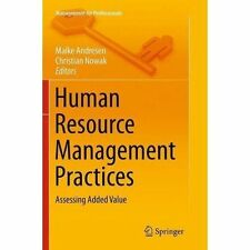 Human Resource Management Practices: Assessing Added Value by Springer...