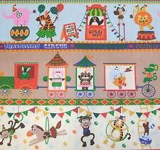 bedruckter Stoff Circus Zirkus Nähen Patchwork bunt Baumwollstoff 1 m Meterware