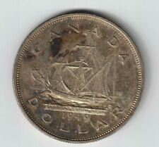 CANADA 1949 SHIP SILVER DOLLAR KING GEORGE VI SILVER COIN TONED