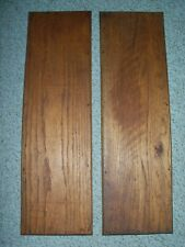 Antique 2 Sets of Pairs Oak Panels from Cabinet Doors Salvaged Inserts