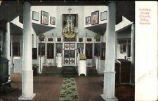 Sitka AK Greek Church Interior c1910 Postcard