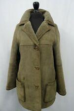 Women's Brown McMahons Sheepskin Shearling Coat Size 14