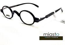 NWT$39.99 MIASTO RETRO OVAL ROUND VINTAGE MINI READER READING GLASSES SPECS+2.25